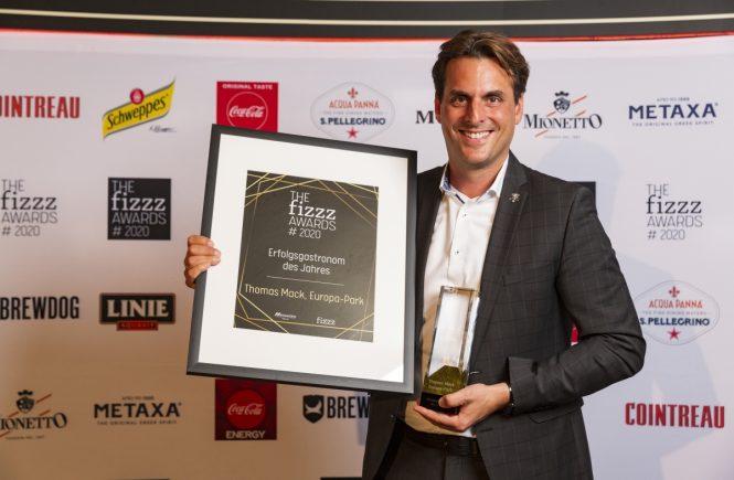 """Thomas Mack vom Europa-Park wurde von der Fachjury des FIZZZ Awards 2020 zum """"Erfolgsgastronom des Jahres"""" gewählt"""
