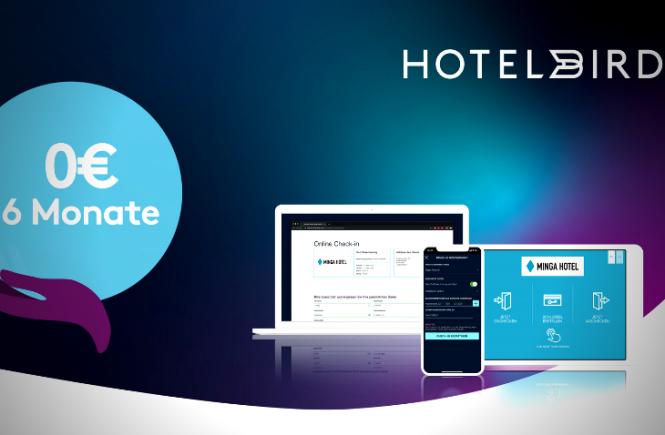 hotelbird mit Schnellhilfe-Paket für Hotelbetriebe
