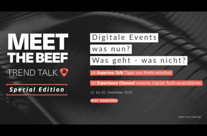 MEET THE BEEF – Trend Talk, 10. bis 20. Dezember 2020