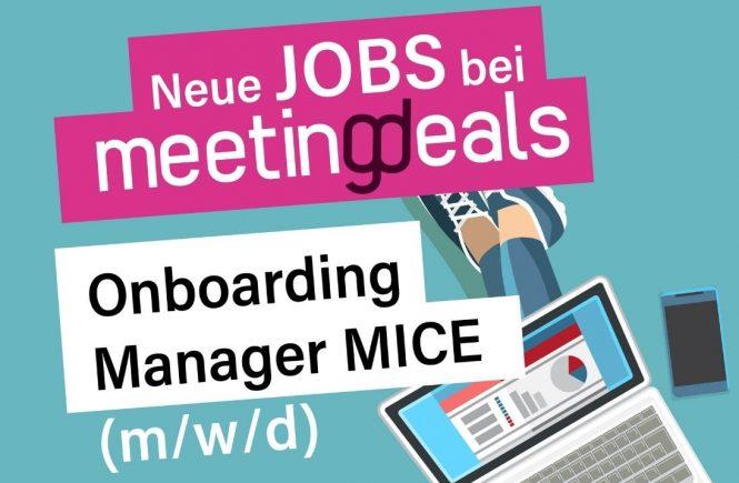 Onboarding Manager MICE (m/w/d) in Teil- und Vollzeit bei Meetingdeals