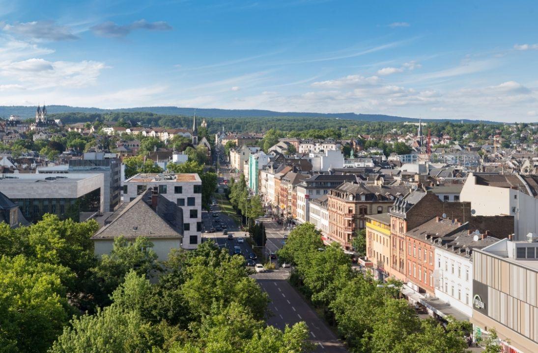 Hubschrauber über Wiesbaden