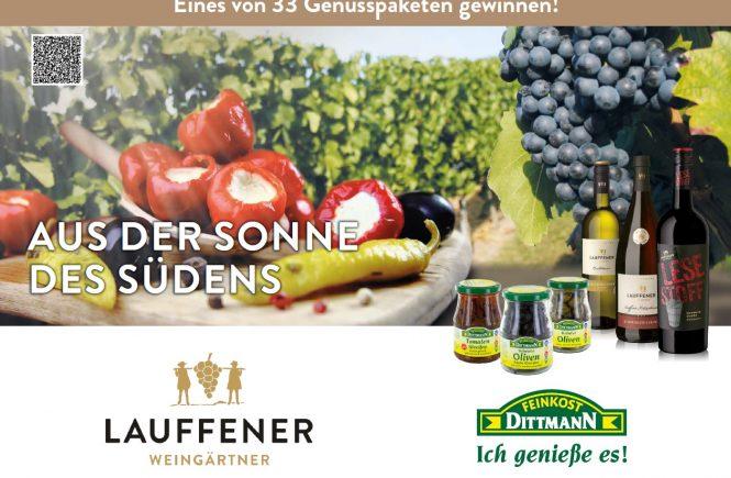 """""""Aus der Sonne des Südens"""" mit Feinkost Dittmann und Lauffener Weingärtner"""