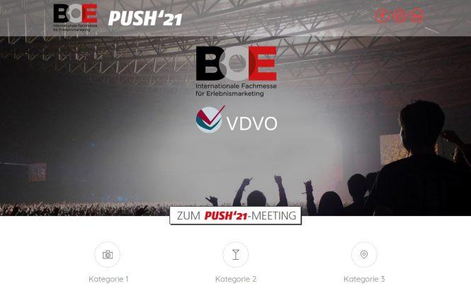 Push'21 ermöglicht Präsenz-Meetings zur BOE INTERNATIONAL auch im Juni