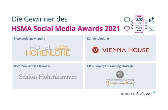 Die Gewinner stehen fest: HSMA Deutschland e.V. verleiht Social Media Award an Hotels