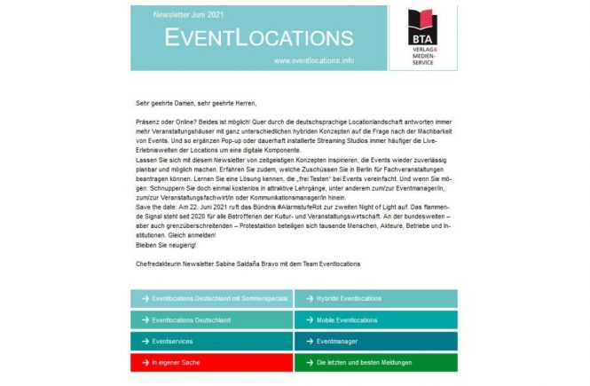 Jetzt bei EVENTLOCATIONS: 7 neue Streaming-Locations, Messe- & Eventservice-News