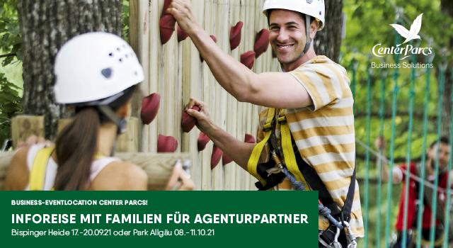 Verlosung für Agenturen: Inforeise mit Familie in die Parks Center Parcs gewinnen!
