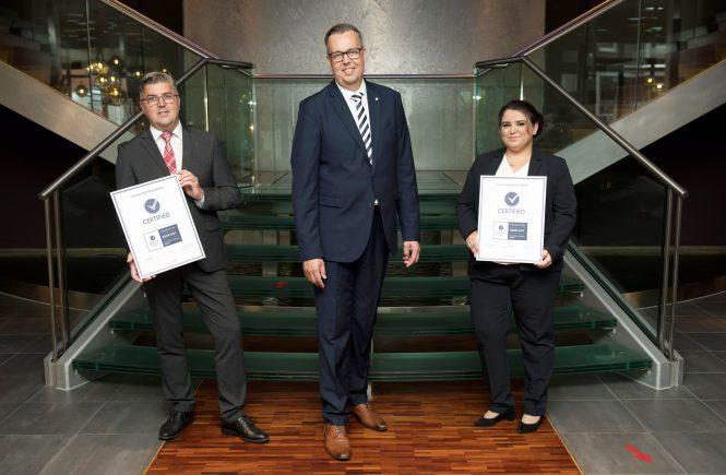 Auszeichnung im Tagungs- und Geschäftsreisebereich für das centrovital Hotel