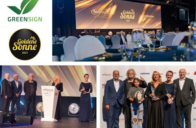 GreenSign & Waldhotel Stuttgart mit der Goldenen Sonne für Nachhaltiges Reisen geehrt