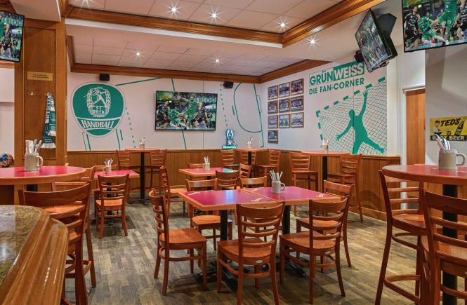 Die Champions Sports Bar im Leipzig Marriott Hotel eröffnet im neuen Design