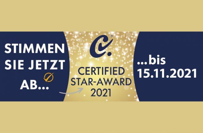 Wer gewinnt den CERTIFIED STAR-AWARD 2021?