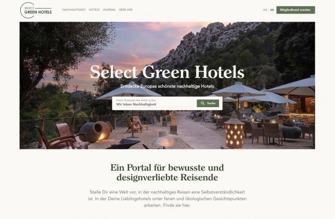 Neues Buchungsportal: Select Green Hotels